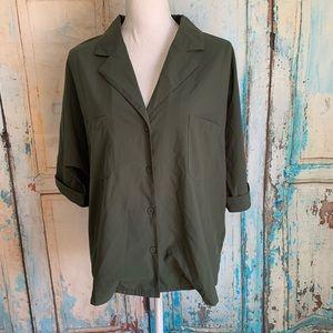 Boohoo blouse olive green